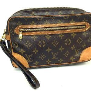 Auth Louis Vuitton Marly Dragonne Clutch #1008L76